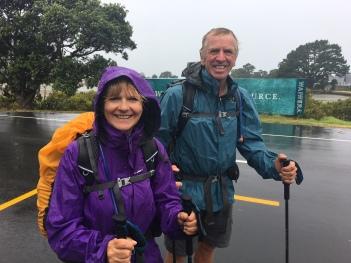 Raining! Who cares. On the way to Orewa