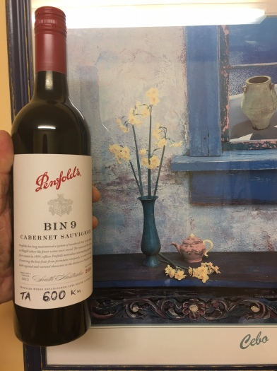 Celebratory bottle of wine to mark 600kms