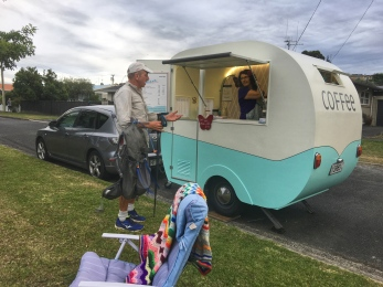 What a surprise. A great little coffee van. Coffee very good