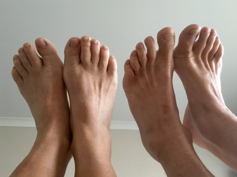 These feet are made for walking...