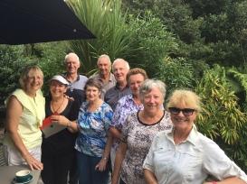 Fellow walkers and friendly kiwis - Maureen Kathy,Janine, Murray, John, Michael, Elizabeth Ann, Diana and Nancy