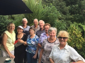 Fellow walkers and friendly kiwis - Maureen Kathy,Janine, Murray, John, Michael, Elizabeth Ann, Diana and Nancy