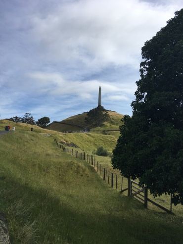 Obelisk in honour of the Maori on top of One Tree Hill