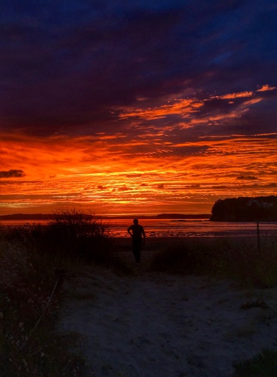 Captivating sunrise at Orewa Beach