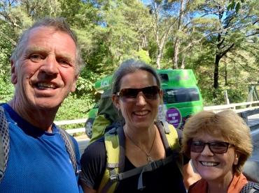Selfie at Pelorus Bridge before 14km along Mauhatapu Rd to the trail start